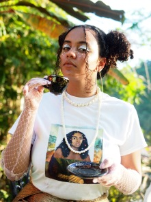 Solange Lisa t-shirt handpainted by @celine_cwc Creative Direction and Styling by @celine_cwc Photography by @j_brew