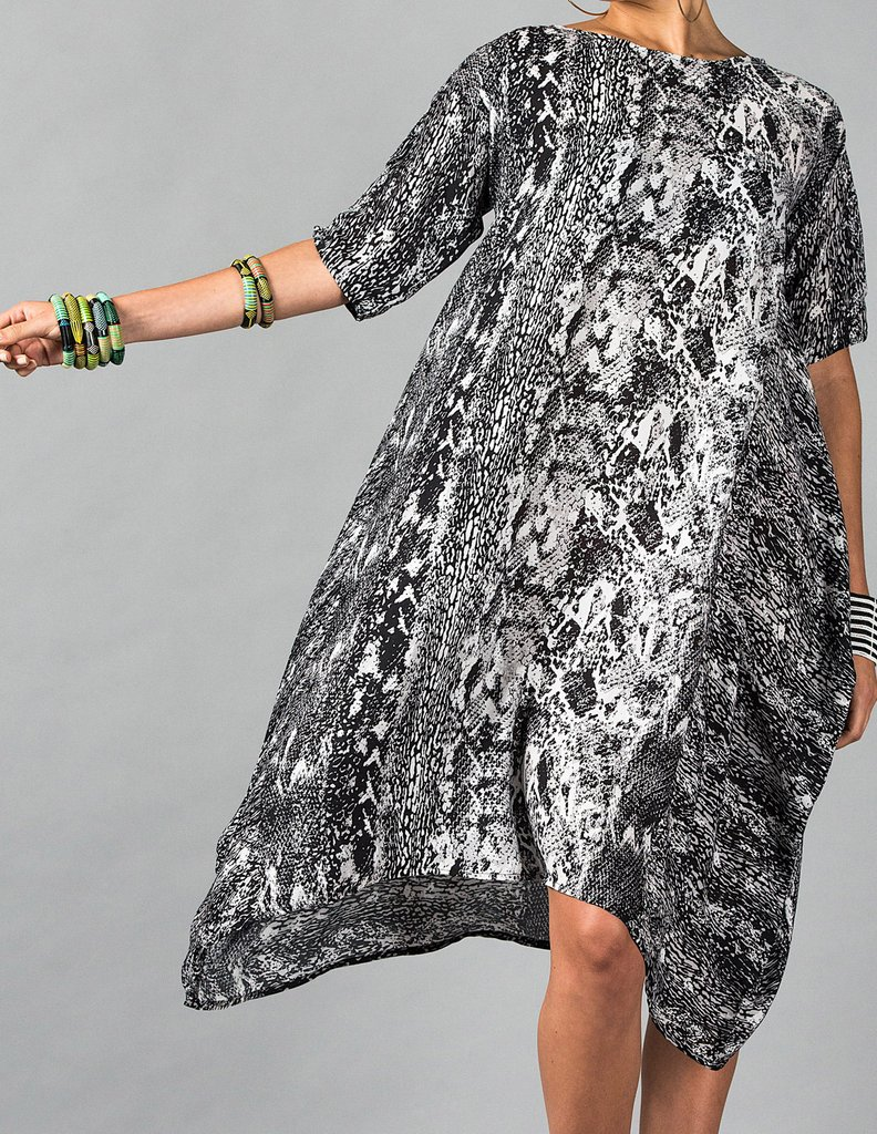 Snakeskin Print Laura Dress